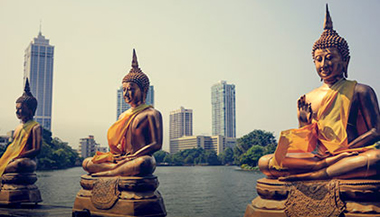 Statues of Buddha in Sri Lanka