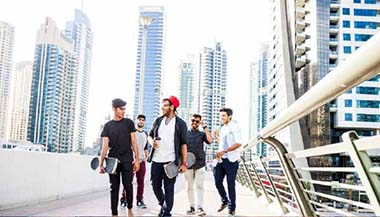 Group of students in Dubai